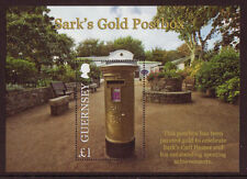 GUERNSEY 2013 SARK'S GOLD POSTBOX MINIATURE SHEET UNMOUNTED MINT, MNH, OLYMPICS