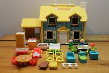 Vintage 1969 Fisher Price Play Family House w/ Accessories Partial Set 952