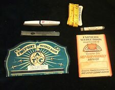 6 Vintage Indianapolis Indiana Advertising Sewing Items Needles Tape Measure