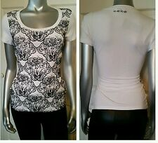 100% AUTHENTIC NWT BEBE FLOCKED SCOOP LOGO  TOP SIZE SMALL