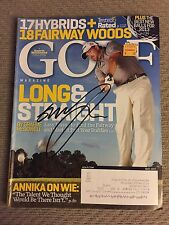 Graeme McDowell Autographed Magazine Signed PGA Golfer Autograph Pricing Sticker
