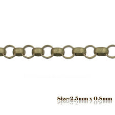 5m x 2.5x 0.8mm Antique Bronze Rolo Chain 217