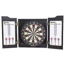 Accudart Heritage Bristle Dartboard Darts and Cabinet Set - Broken Cabinet