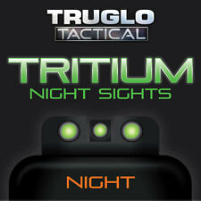 TruGlo Tactical Tritium Handgun Sights - Smith & Wesson -TG231MP - Green/Green