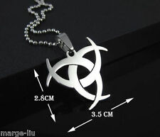 RESIDENT EVIL AFTERLIFE BIOHAZARD Mens Silver pendant  STAINLESS STEEL Necklace