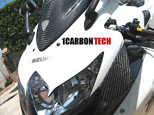 08 09 2008 2009 2010 SUZUKI GSXR 600 750 CARBON FIBER RAM AIR INTAKE COVERS