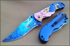 MASTER COLLECTION 5 INCH CLOSED FANTASY MERMAID SPRING ASSISTED KNIFE 440