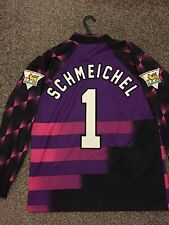 MANCHESTER UNITED VINTAGE 1996/97 GOALKEEPER SHIRT ADULTS(S OR M) 1 SCHMEICHEL