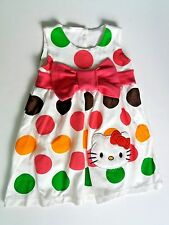 Girls 18 Months ~ Hello Kitty Colorful Polka Dots Dress ~ Pink Bow