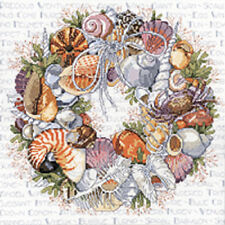 Seashell Wreath - Janlynn - Counted Cross Stitch Kit - New