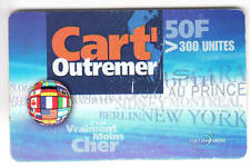 DOM-TOM  TELECARTE / PHONECARD  .. ILE GUADELOUPE 50F CART'OUTREMER EM N°M0005