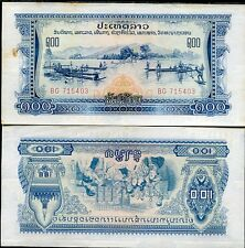 LAOS 100 KIP PATHET LAO P 23 XF++ WITH YELLOW TONE