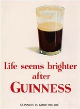 Magnete Calamita da Frigo 'Life Seems Brighter after Guinness' (se)