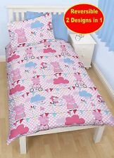 PEPPA PIG TWEET REVERSIBLE SINGLE DUVET QUILT COVER KIDS GIRLS PINK BEDDING SET