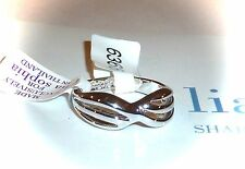 "NWT/NIB - LIA SOPHIA ""TWIST OF FATE"" SILVERTONE RING - SIZE 6 - 2011/$36"