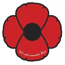 Remembrance Day Poppy  Sticker 70mm
