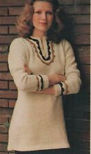 Knitting Pattern Lady's Tunic Top with Optional Crochet Trim. DK Wool.