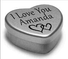 I Love You Amanda Mini Heart Tin Gift For I Heart Amanda With Chocolates