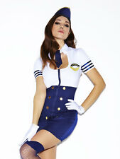 Ann Summers Fly Girl Pilot Outfit Sz 14 *In Stock*