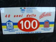 TARGA ASI 40 ANNI DELLA BALILLA VETERAN CAR CLUB TORINO 1972