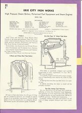 Erie City Iron Works Boiler Catalog One Full Page Asbestos History