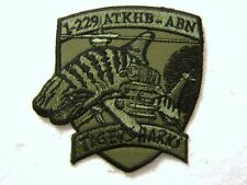 1-229th AVIATION REGIMENT PATCH TIGER SHARKS MORALE PATCH U.S. ARMY SUBDUED:K7