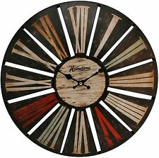 Hometime Wall Clock 40 cm - Colourful Antique Face - Roman Numerals - W7456