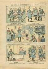 WWI Caricature Poilus Tranchée Pickelhaube Croix de Guerre War 1915 ILLUSTRATION