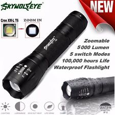 Tactical LED Flashlight G700 SkyWolfeye X800 Zoom Super Brigh