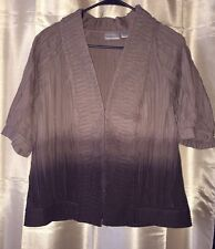 LN Chicos FuNkY Brown Blazer Jacket Unique 1 Small 8 OMBRE India Cotton Boho S