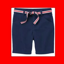 NWT 3 Gymboree UNIFORM SHOP SCHOOL NAVY BLUE Bermuda SHORTS adj Waist Fab Belt