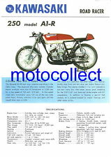 KAWASAKI 250 A1-R... Vintage Poster Print with Specifications