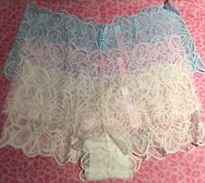 Lot Of 3 Victoria's Secret Pink Lace Cheeky Shortie Boyshort Panties S VSPink