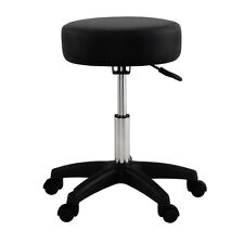 Black Adjustable Tattoo Salon Stool Hydraulic Rolling Chair Facial Massage Spa