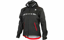 NEW -  Sportful Commute Rain Jacket Coat Cycling - Black RRP £109.99 Large L