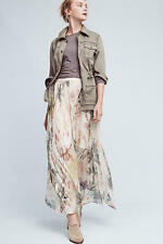 NWT Anthropologie Daybreak Maxi Skirt By Blank M Medium FOIL $168 SOLD OUT