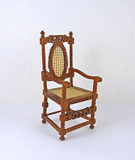 Dollhouse Miniature Dutch Cane Chair, Walnut, P6062
