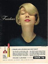 PUBLICITE ADVERTISING  1958   CHEN YU  cosmétiques
