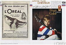 PUBLICITE ADVERTISING 044 1964 L'OREAL régé color jeunesse (2 pages)