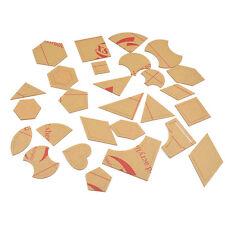 1x 27 Sätze 54 Stücke DIY Quilt-Schablonen Patchwork Taschen Kleidung Dekoration