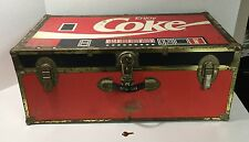 Rare Vintage Seward Large Coca Cola Steamer Trunk w/Original Key Great Condition
