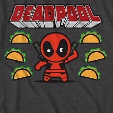NWOT Marvel Deadpool Wade Wilson Tacos T-Shirt LICENSED Dead Pool Kawaii Figural