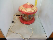 Vintage Econolite Merry Go Round Childrens Motion Lamp 1940s works great
