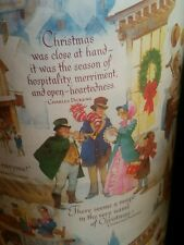 Vintage Dept Store Christmas Wrapping Paper Christmas Carol Dickens $5.99/yd