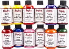 Angelus Acrylic Leather & Vinyl Starter Set - Kit #5, 12 4oz Bottles of Paint