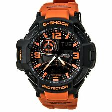 Casio GA-1000-4A G-Shock Aviation Twin Series Digital Compass Watch Black Orange