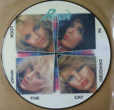 EX/EX! POISON LOOK WHAT THE CAT DRAGGED IN VINYL PICTURE PIC DISC LP