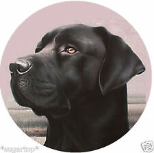 Black Labrador - 20 x 50mm Edible Cake Toppers printed on Wafer Paper