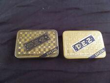 2 PEZ EXTREMELY RARE VINTAGE Austrian pre WW2 Candy PEZ SPEZIAL Tin Boxs