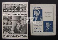 THE GIRL FROM CHICAGO 2 DP Dixie Underworld MYRNA LOY Crime Gangster BONTE 1927